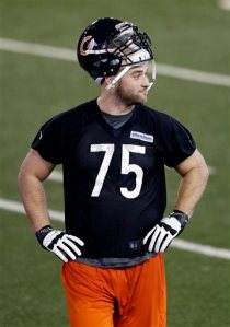 Kyle long at Bears Rookie Minicamp May 10, 2013